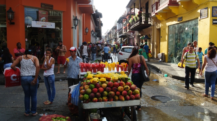 Mango cart in Cartagena.