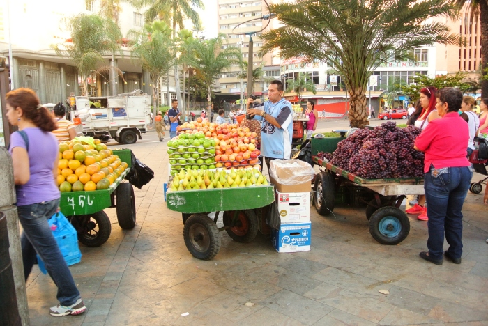 "Fruit vendors in ""Centro,"" Medellin"